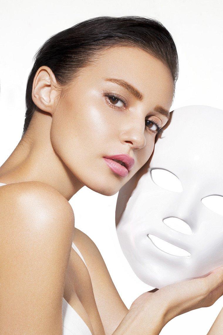 led maske test