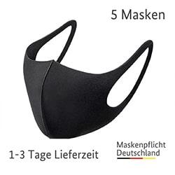 waschbare stoffmasken schwarz